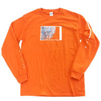 Long sleeve T-shirts - s p a c e . - / Orange