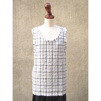 【SALE】1310-01-107 Windowpane Check Tank