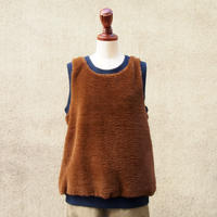 【SALE】1404-06-106 Fake Fur Sleeveless Top