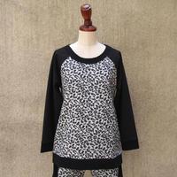 1310-06-102 Leopard Bi-Color Top
