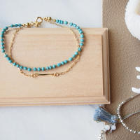turquoise beads from Paris BRACELET