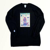 【東京ガンボ】おもしろシール風 晴子ロンTee (BIGサイズ)