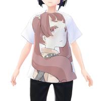 【VRoid用テクスチャ】白子まり フルグラフィックTシャツ