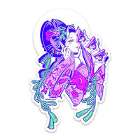 【Invasion club】OIRAN STICKER・花魁ステッカー