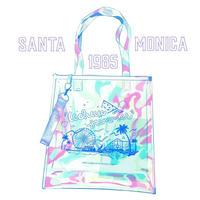 【宇宙サマー】SANTA MONICA 1985 CLEAR HOLOGRAPHIC TOTEBAG