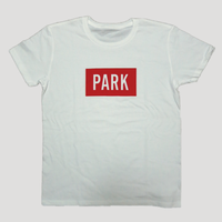 PARK -  LOGO Tee (white x red)