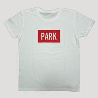 PARK -  LOGO Tee (white x red)