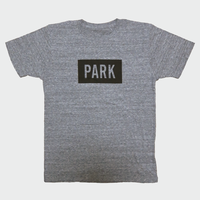 PARK -  LOGO Tee (gray x black)