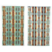 "Pendleton ""OVERSIZED JACQUARD TOWEL"" Chief Joseph Aqua"