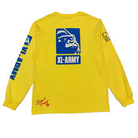 "XLARGE ""L/S TEE XL-ARMY"" YELLOW"