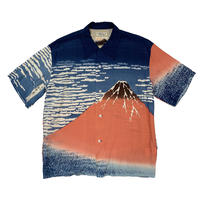 "SUN SURF ""北斎 HAWAIIAN SHIRT"" 赤富士"