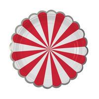 【MeriMeri(メリメリ)】TOOT SWEET ペーパープレートS/レッドストライプ [MM0203-45-1406]