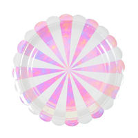【MeriMeri】ペーパープレート/オーロラ/8枚入り [MM0203-45-3004]