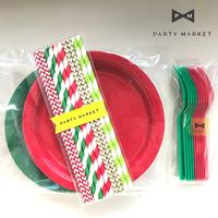 【お得な3点セット】クリスマスパーティー/カトラリーセット [ST0402-001]