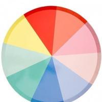 【MeriMeri】カラーホイールディナープレート/φ約26.5cm[MM0203-187198]