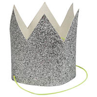 【MeriMeri】パーティークラウン/シルバーグリッター/8個入り [MM0302-45-2501]