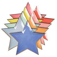 【MeriMeri】ペーパープレート/ジャジースターカラフル/8色×各1枚入り [MM0203-45-2754]