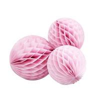 【1個までメール便対応】/【GingerRay/イギリス】ハニカムボール ピンク 3個セット[ZZ0414-R-513 ]