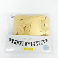 【A Little Lovely Company】バナー/シンボル&ナンバー/ゴールド  [LLC0101-GALE003]