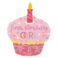 Sweet Little Cupcake スウィーツリトルカップケーキ GIRL ガール ピンク ヘリウムガス無し Anagram [BF0501-119924]