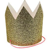 【MeriMeri】パーティークラウン/ゴールドグリッター/8個入り [MM0302-45-2500]