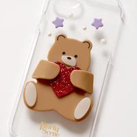 【iPhoneX,XS,7-8plus,6-8対応】テディベア iPhoneケース