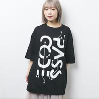 【PassCode】BIG SILHOUETTE TEE(BLACK)