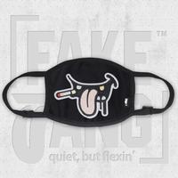 「FAKE TANG」ファッションマスク コットン製 紐調節可 デザインワッペン 送料無料 特典付き