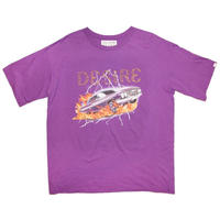 STONE DECORATION T-SHIRT 'THE CAR PURPLE