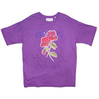 STONE DECORATION T-SHIRT 'ROSE