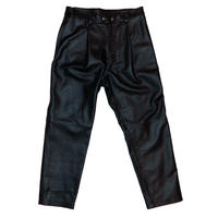 LEATHER BACKZIP TROUSERS