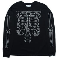 HEAVY LONG SLEEVE T-SHIRT 'BONES(BLK)