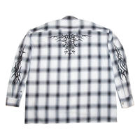 OVERSIZED CHECK SHIRT 'TY(BK)