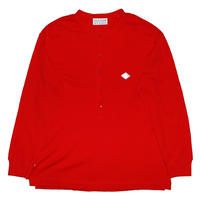WAFFLE HENELY NECK LONGSLEEVE TOP(RED)