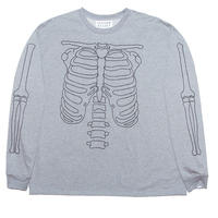 HEAVY LONG SLEEVE T-SHIRT 'BONES(GRY)