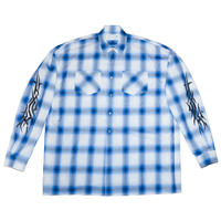 OVERSIZED CHECK SHIRT 'TY(BLU)