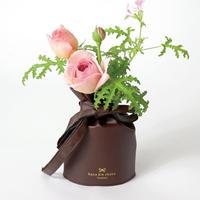 花巾着 (hana kin chaku)   PU Leather   S   ショコラ