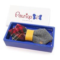 【復刻版】Patriqo Check Wool Bowtie チェック×ウール 蝶ネクタイ (ブローチ)