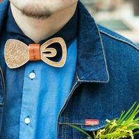 【予約商品】Patriqo Wood Paisley Bowtie 03 ペイズリー柄 木製蝶ネクタイ(ブローチ)