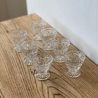 (K様専用)vintage・プレスガラスのミニグラス