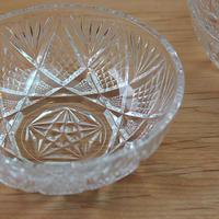 昭和レトロ・プレスガラスの小鉢(pineapple)
