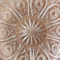 昭和レトロ・プレスガラスの小皿2枚セット
