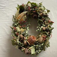 ombrage)orange wind oval wreath *送料込