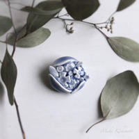 Kさま専用・mori de nohara de「青い花のブローチ」
