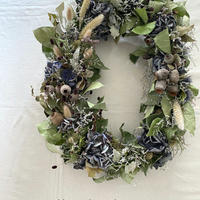 ombrage)autumn blue oval wreath *送料込