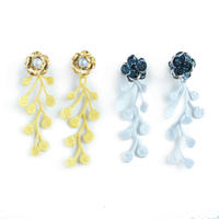 RAINY LACE PIERCE / EARRING (button)
