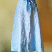 フレアロング巻きスカート