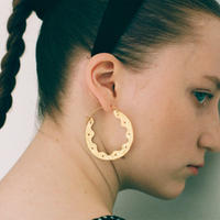 Gold Frill Hoops
