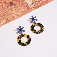 Flower & Circle / Blue