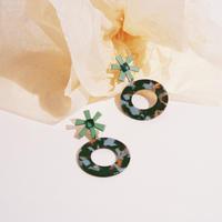 Flower & Circle / Green
